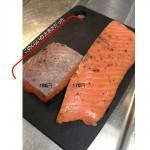 鮭サーモンの燻製を使った冷製パスタ 茄子とトマトのソースと