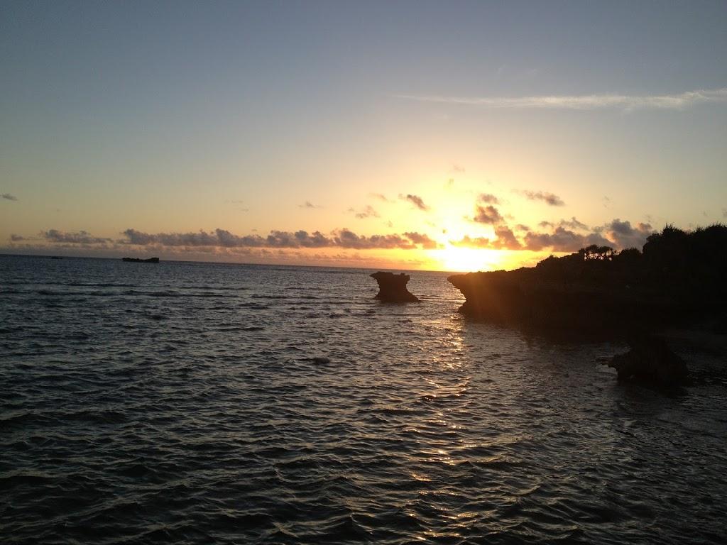 残波岬の日没