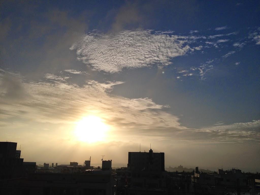 アタマと体が慣れてきた 黄斑変性症 日没の写真
